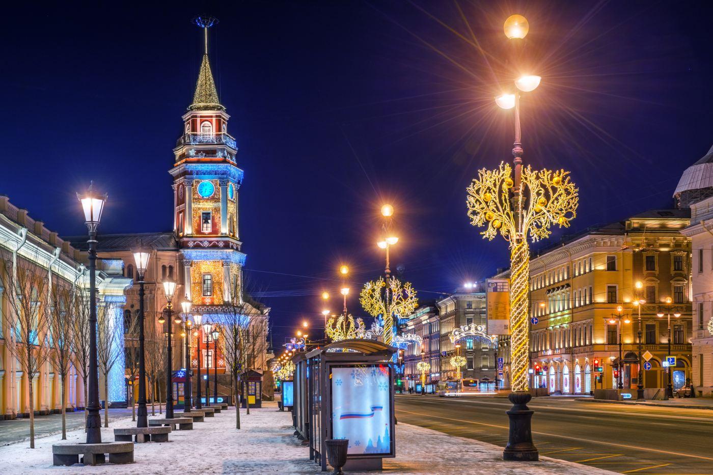 Avenida Nevsky em São Petersburgo