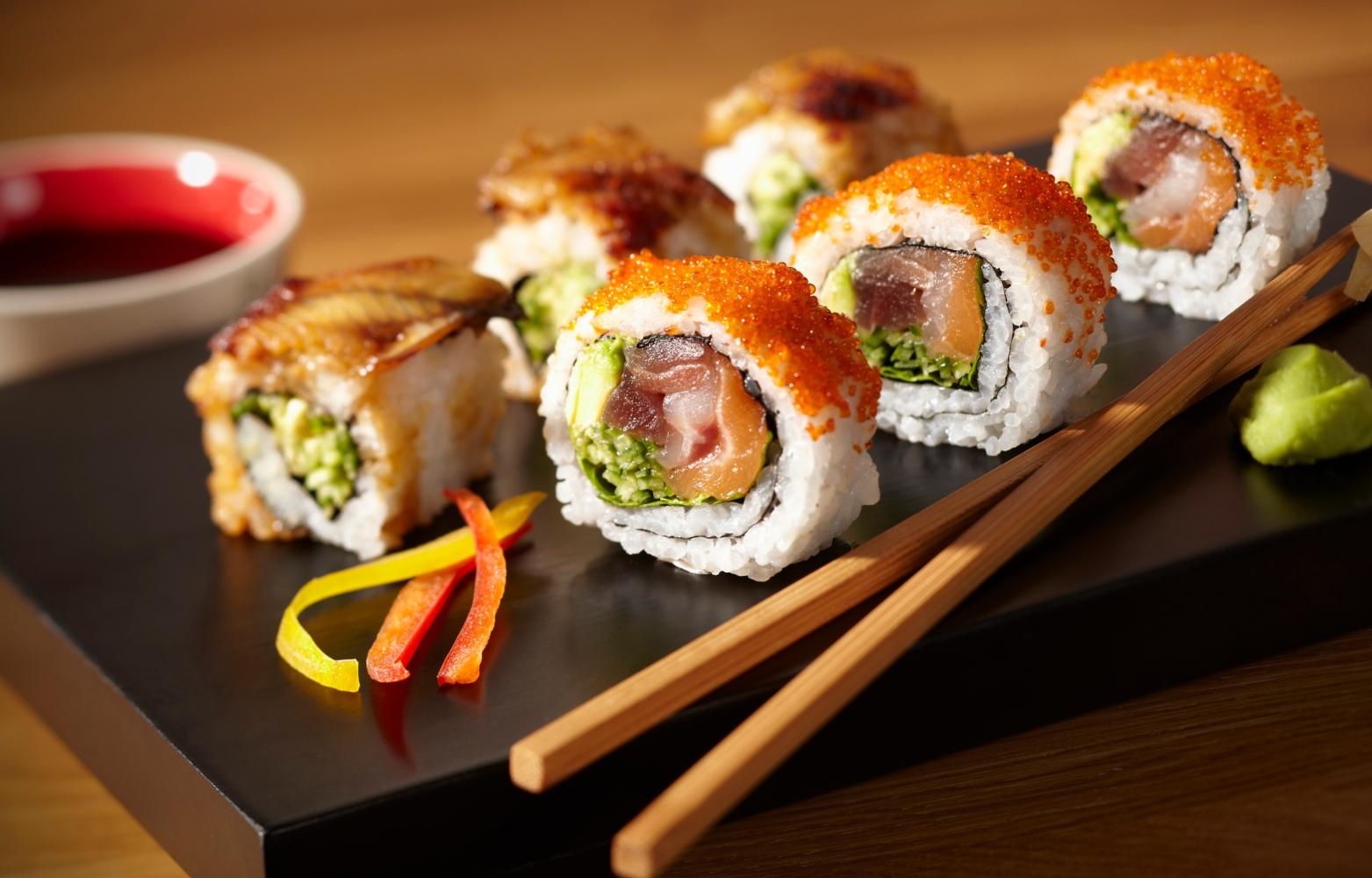 refeição de sishi