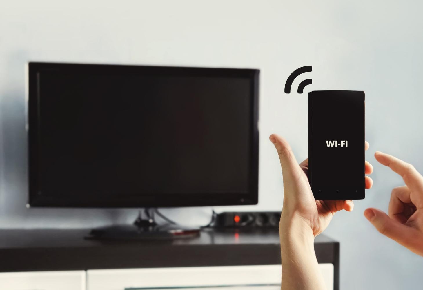 Televisão com wi-fi