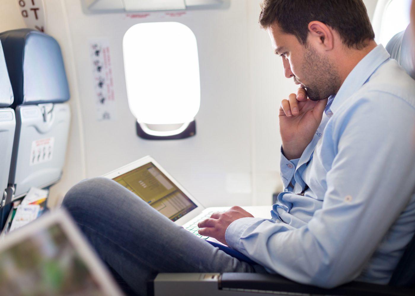trabalhar viagem avião