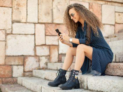 Vestidos com botas para mulher