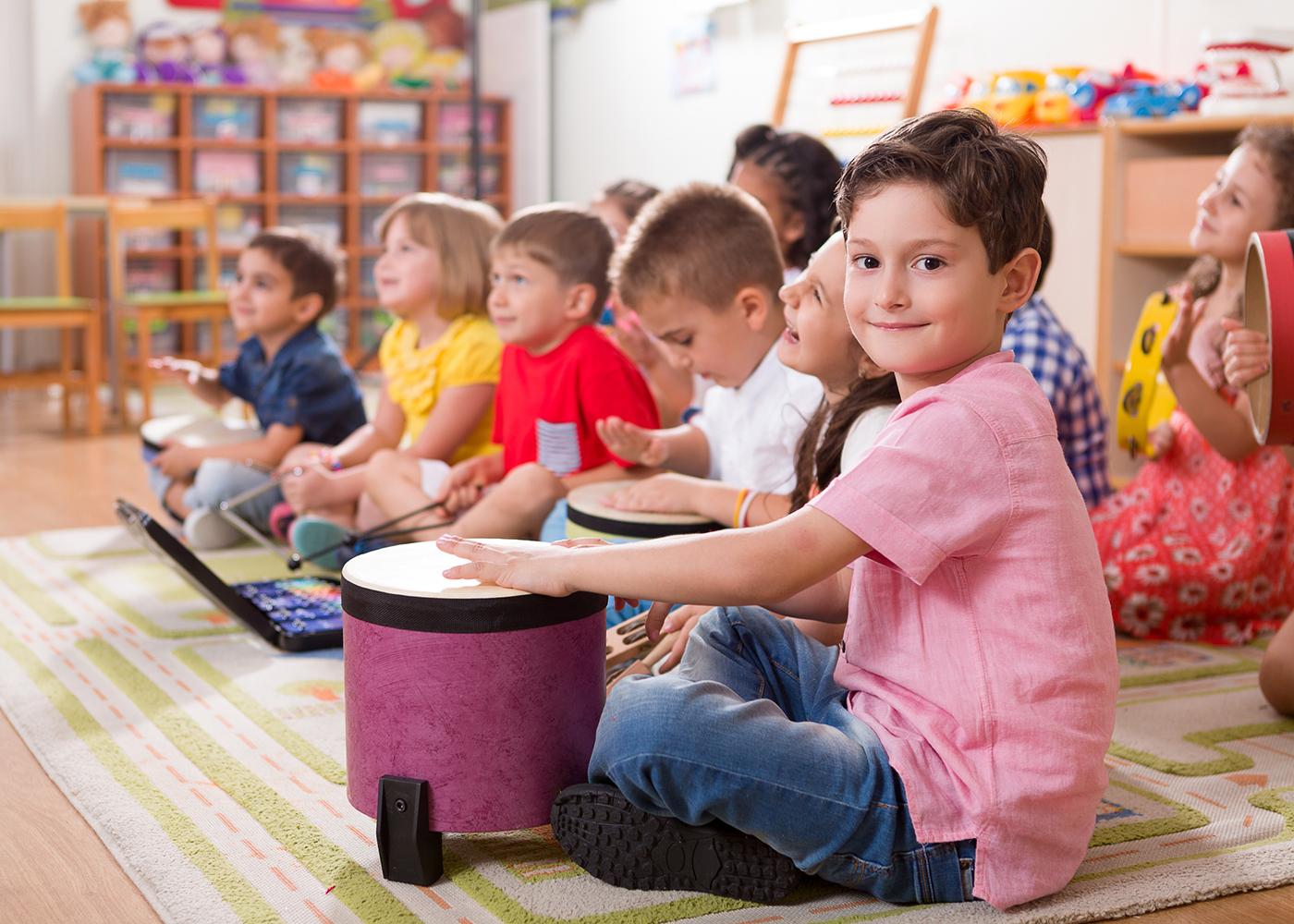 aula de música crianças