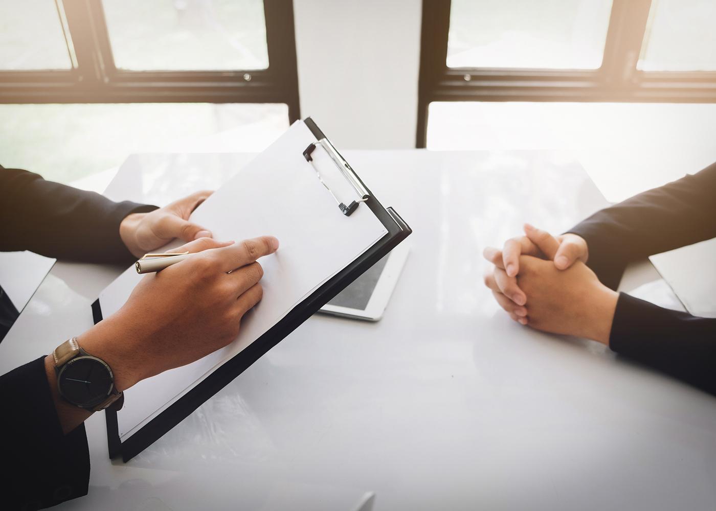 avaliação em entrevista de emprego