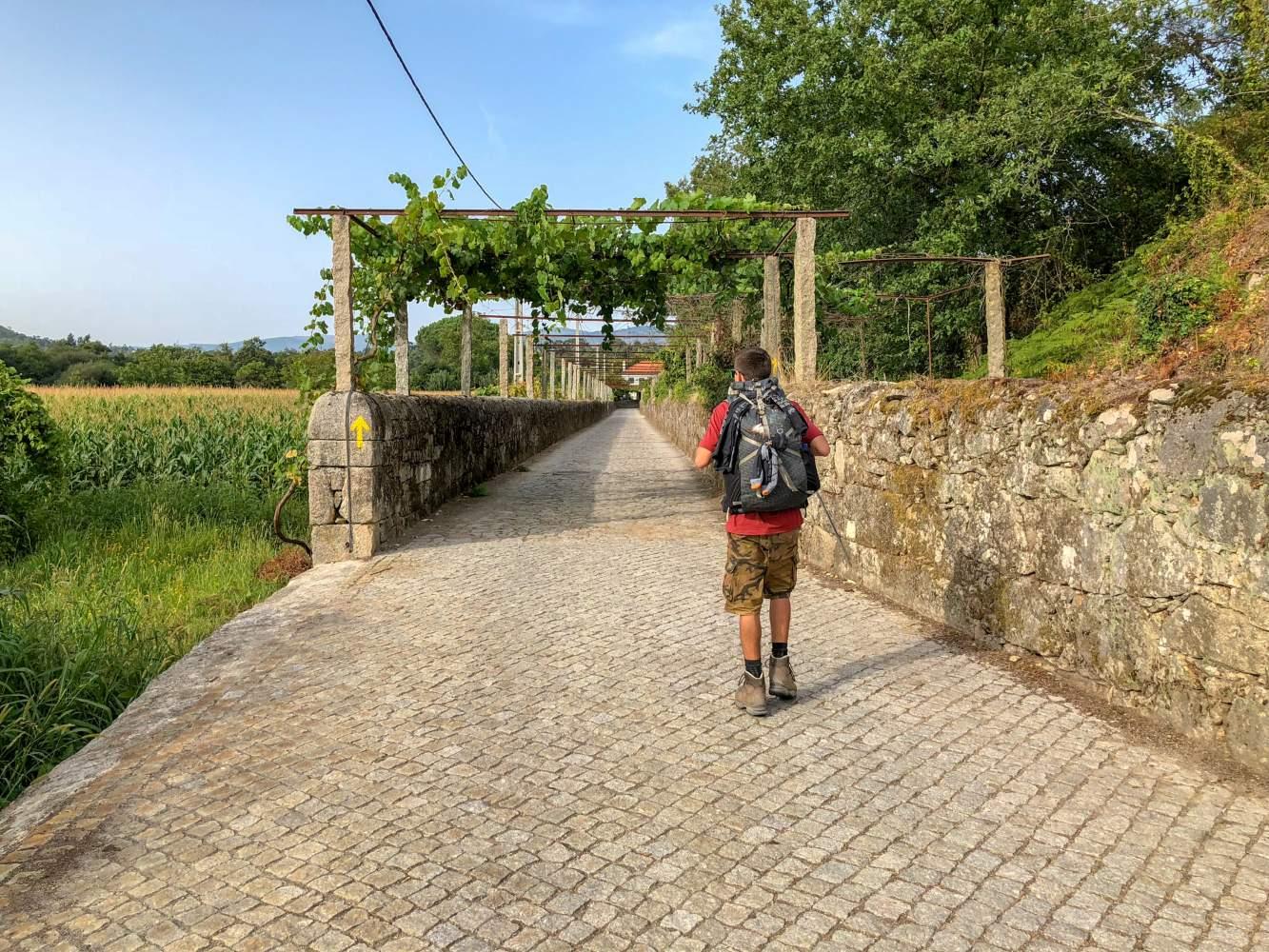Caminho de Santiago em Portugal com peregrinos