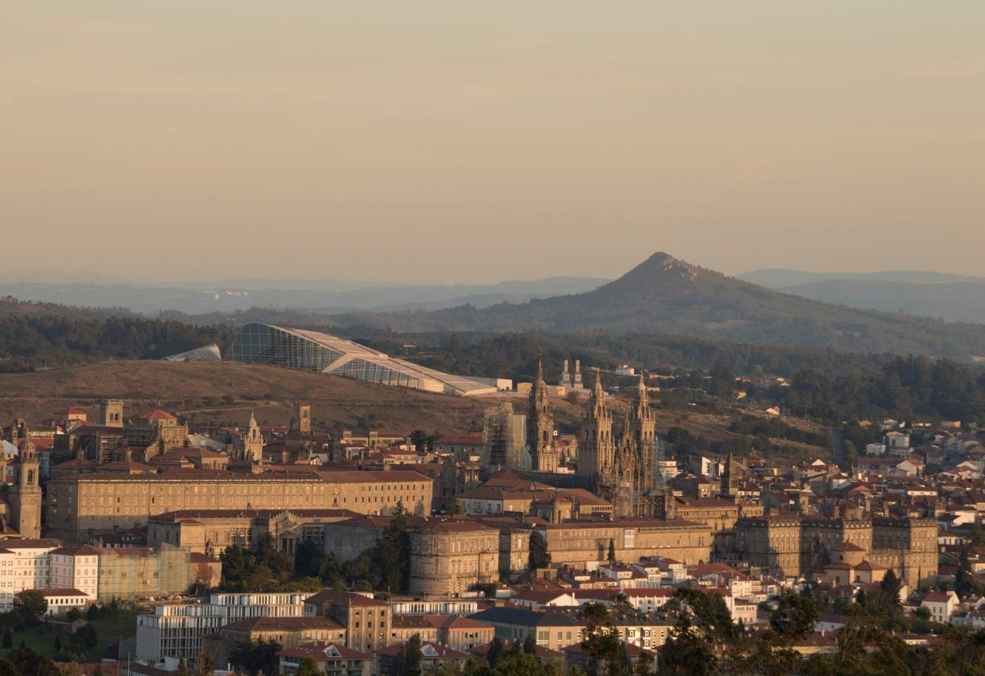 Vista geral de Santiago de compostela