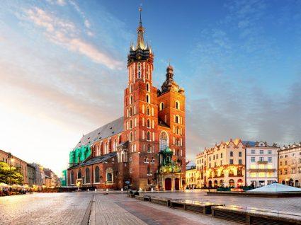 Vista do centro de Cracóvia