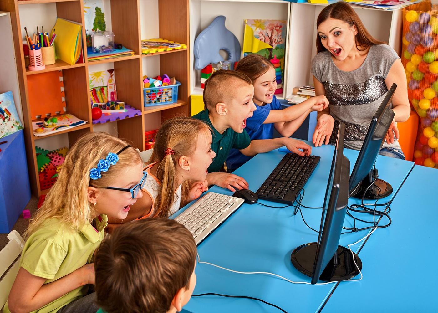 crianças e os computadores