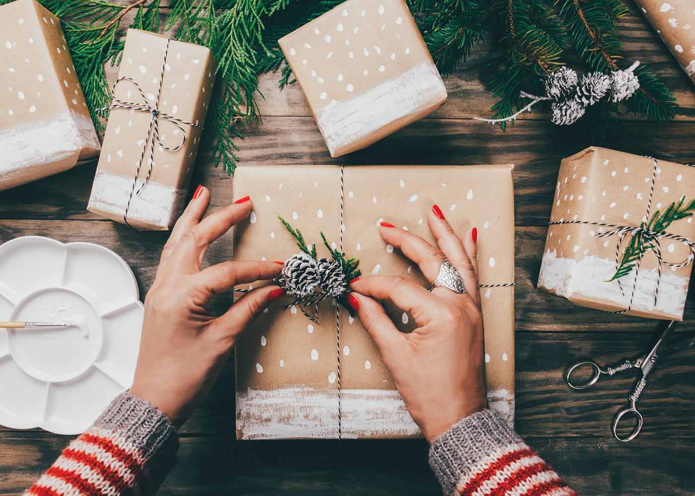 embrulhar presentes de natal