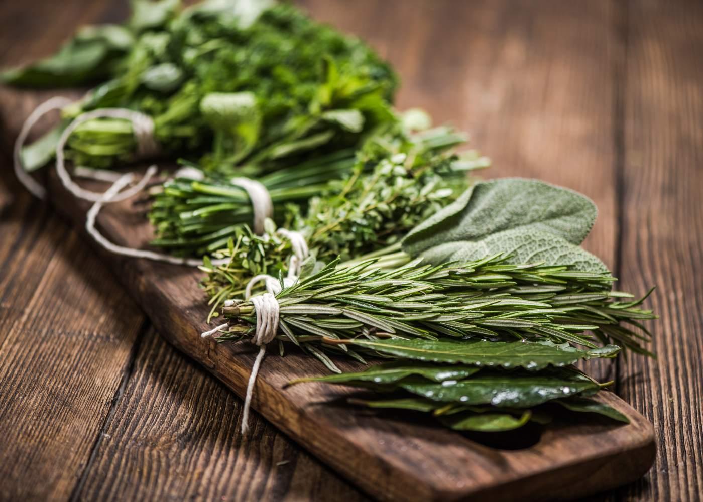 Ervas aromáticas saudáveis