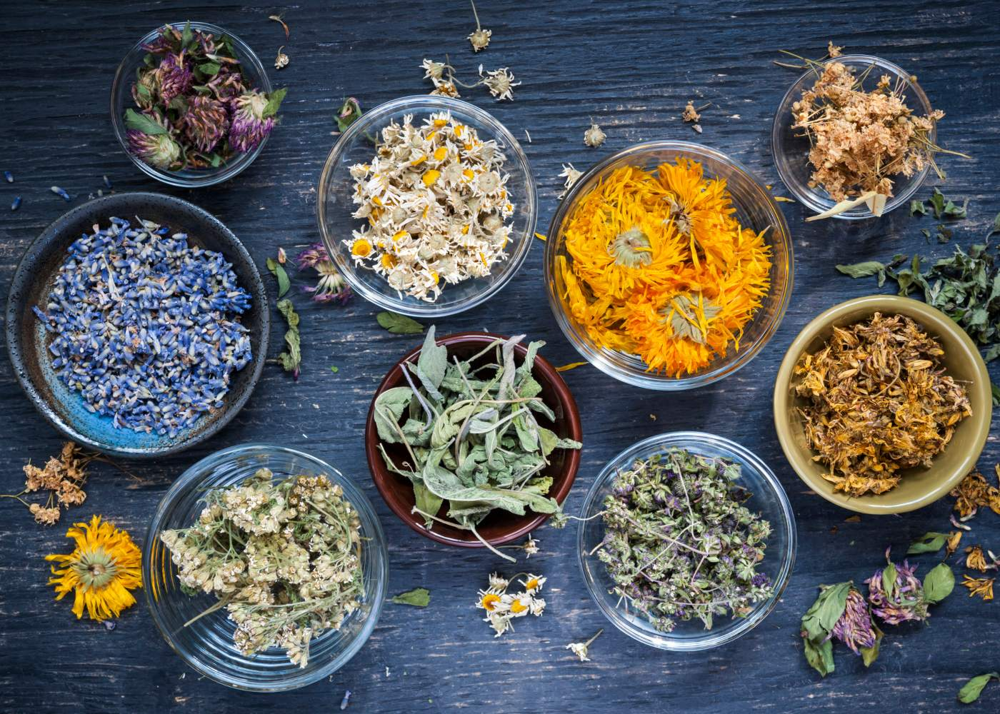 ervas e especiarias saudáveis