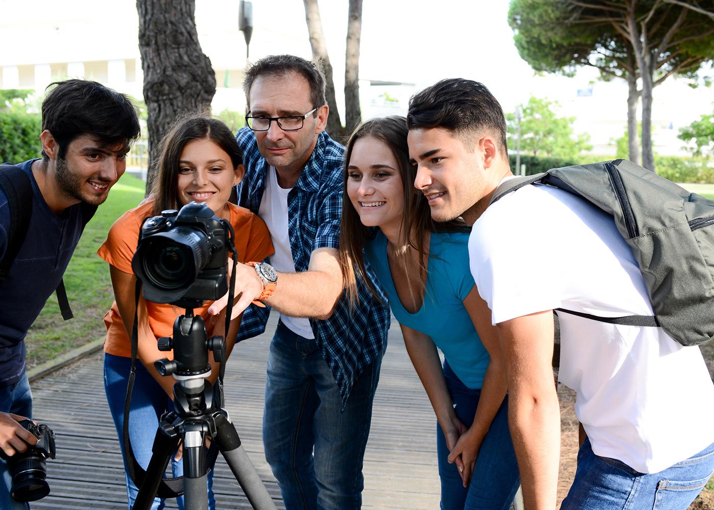 estudantes fotografia