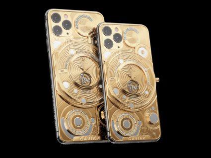iPhone com relógio de ouro já disponível