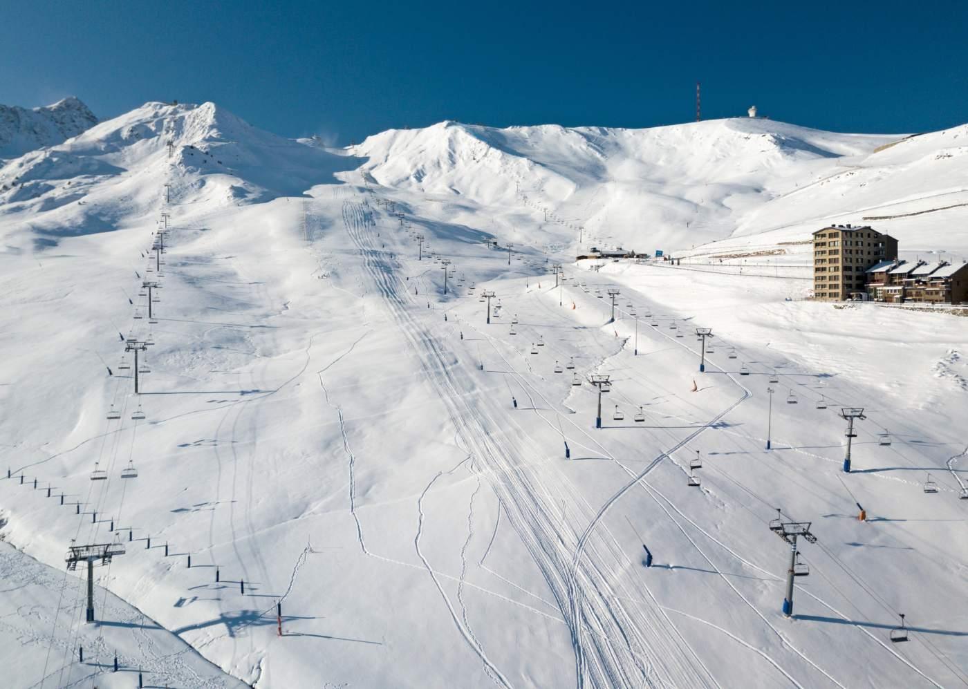 Pista de estância de ski