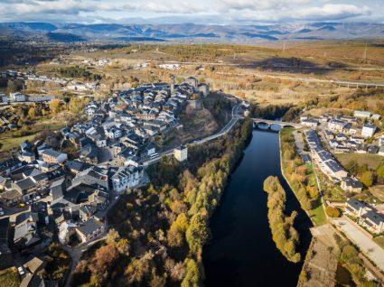 Vista aérea de Puebla de Sanabria