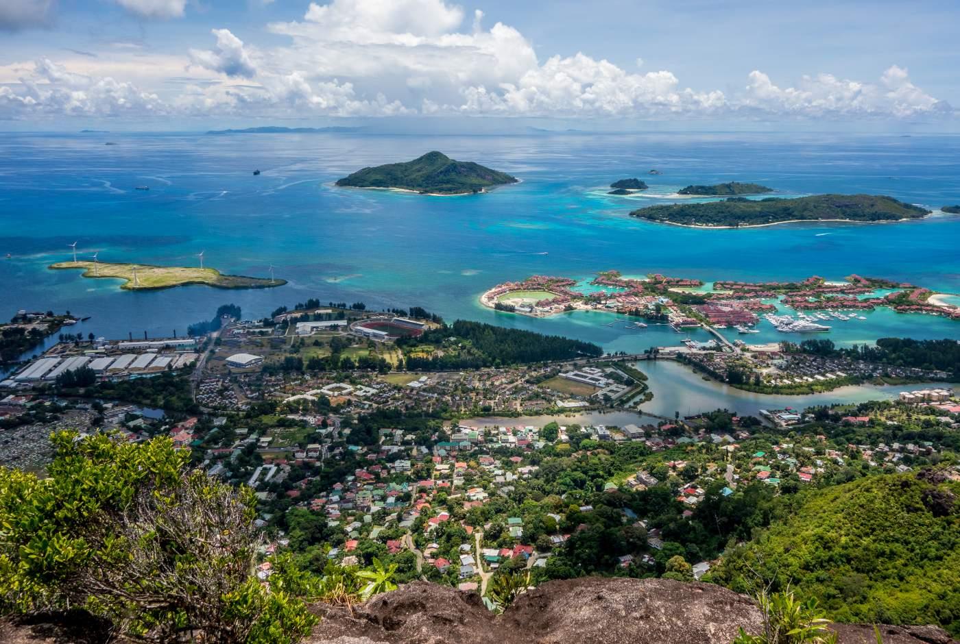 Vista geral das ilhas Seychelles