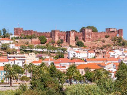 Vista do castelo de Silves