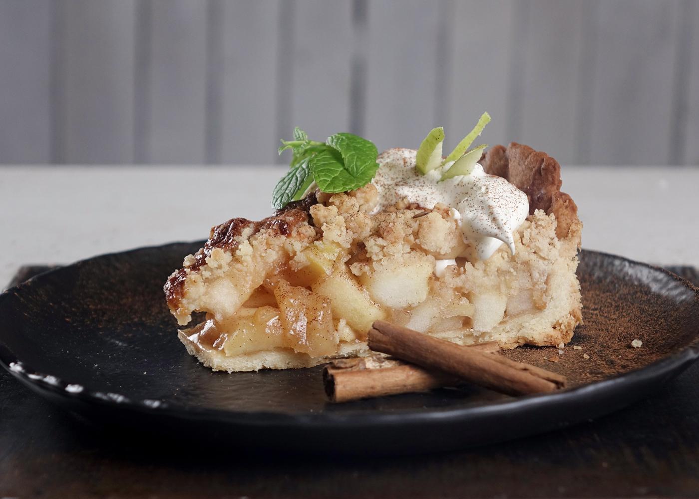 tarte de maçã com camembert