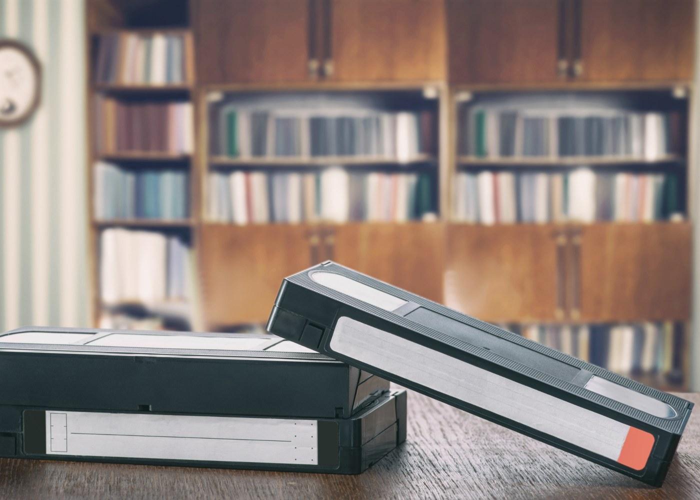 Cassetes antigas de VHS para converter para digital