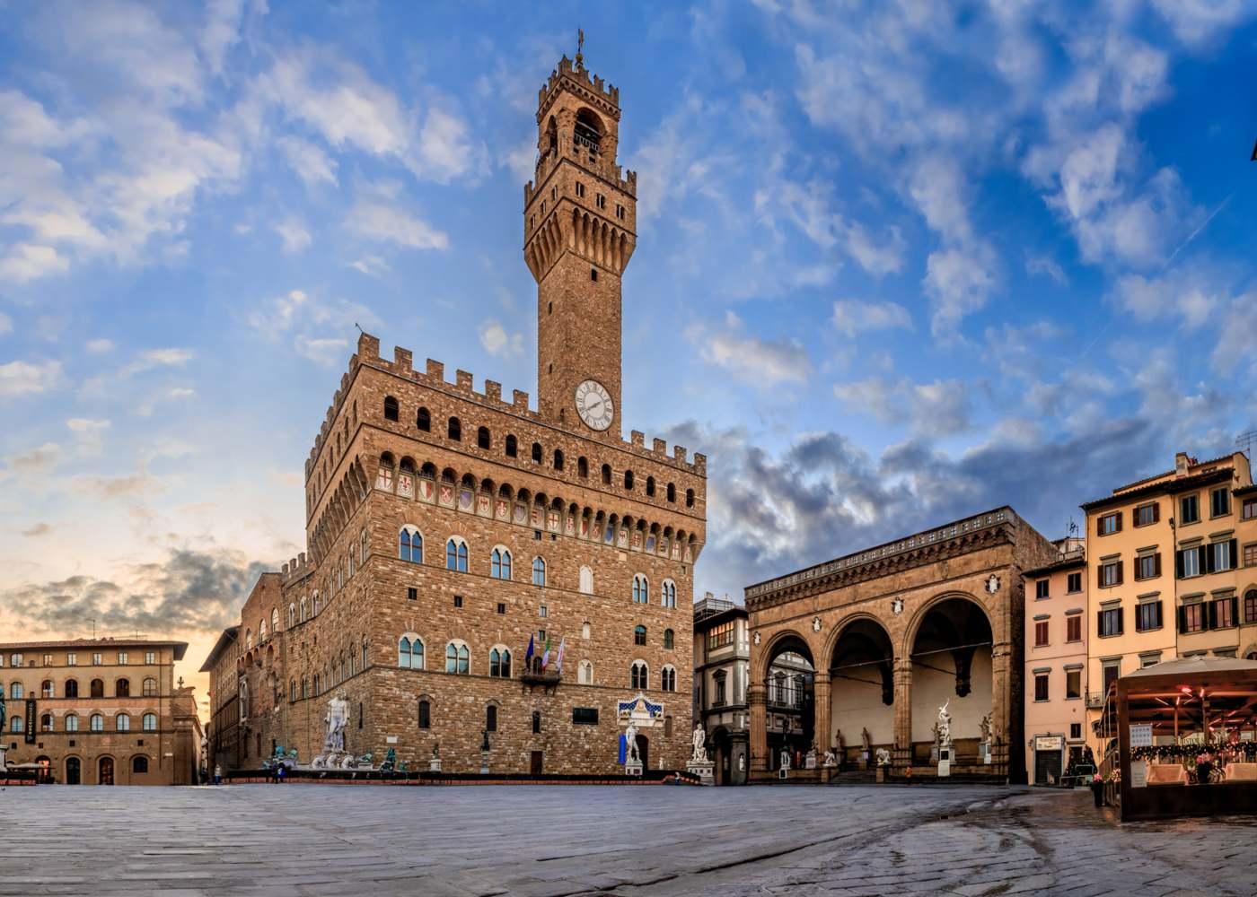 Praça histórica em Florença