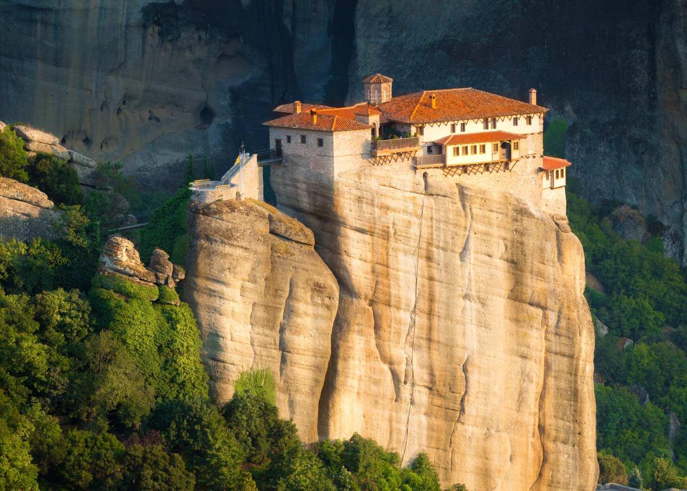 Mosteiro em Metéora na Grécia