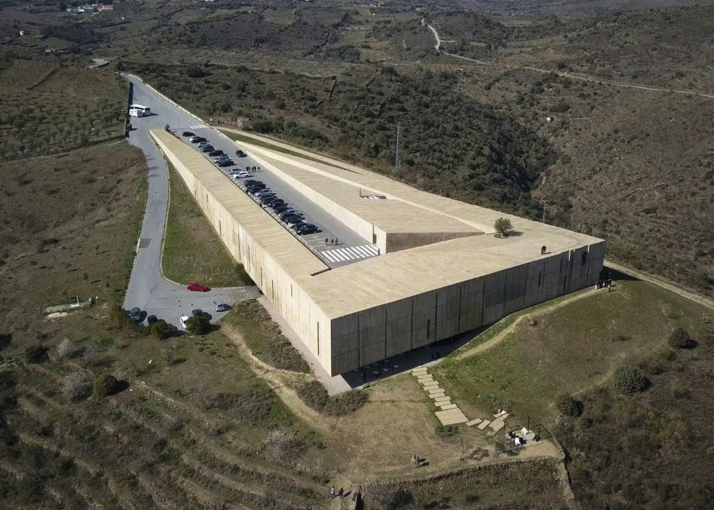 Vista aérea do Museu de Foz Côa
