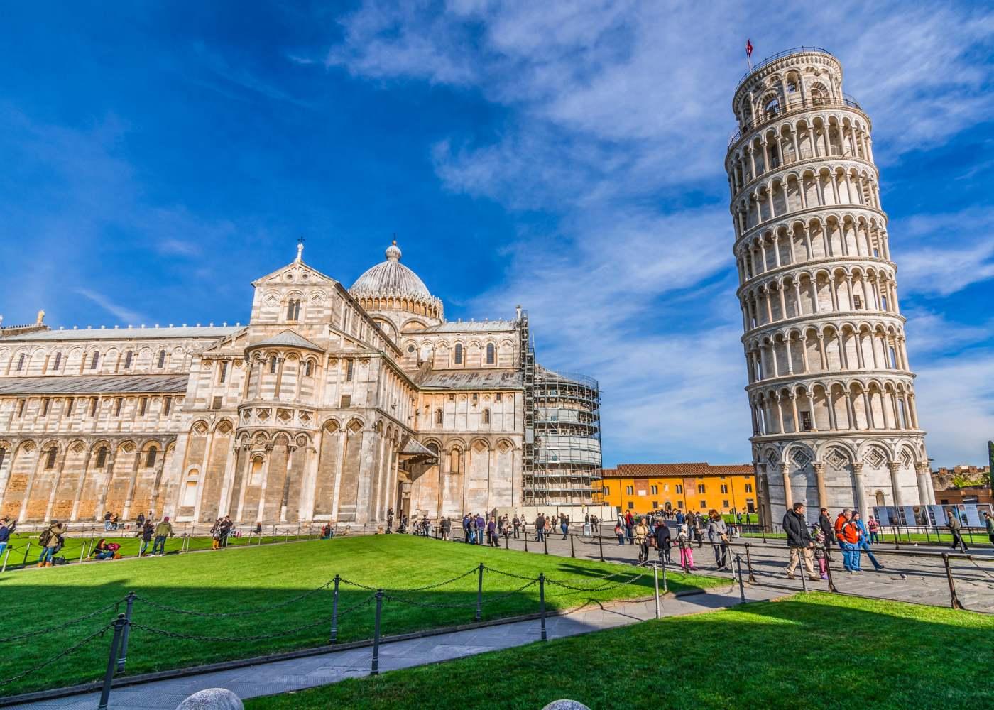 Cidade de Pisa na Toscana