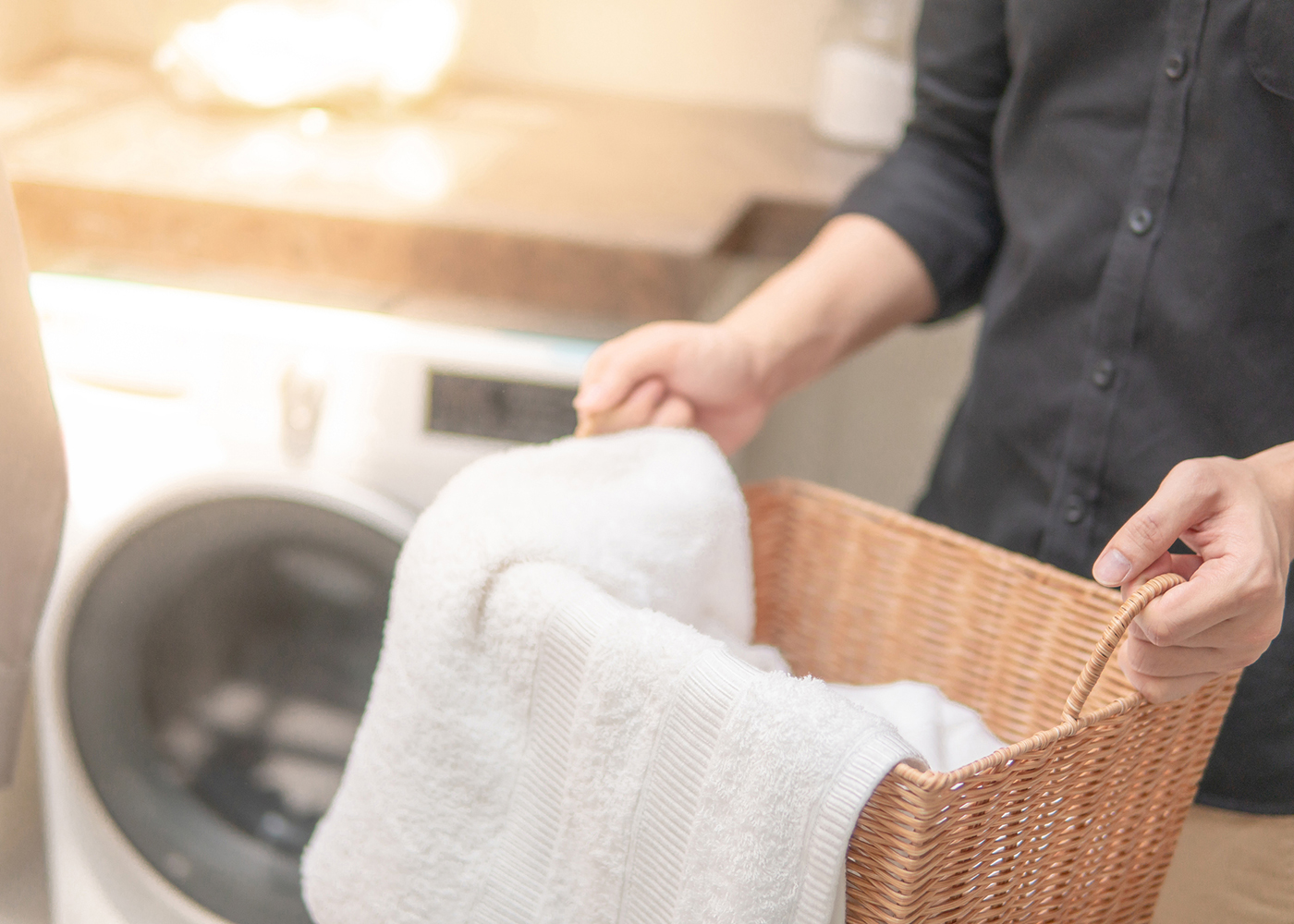 preparar roupa para lavar