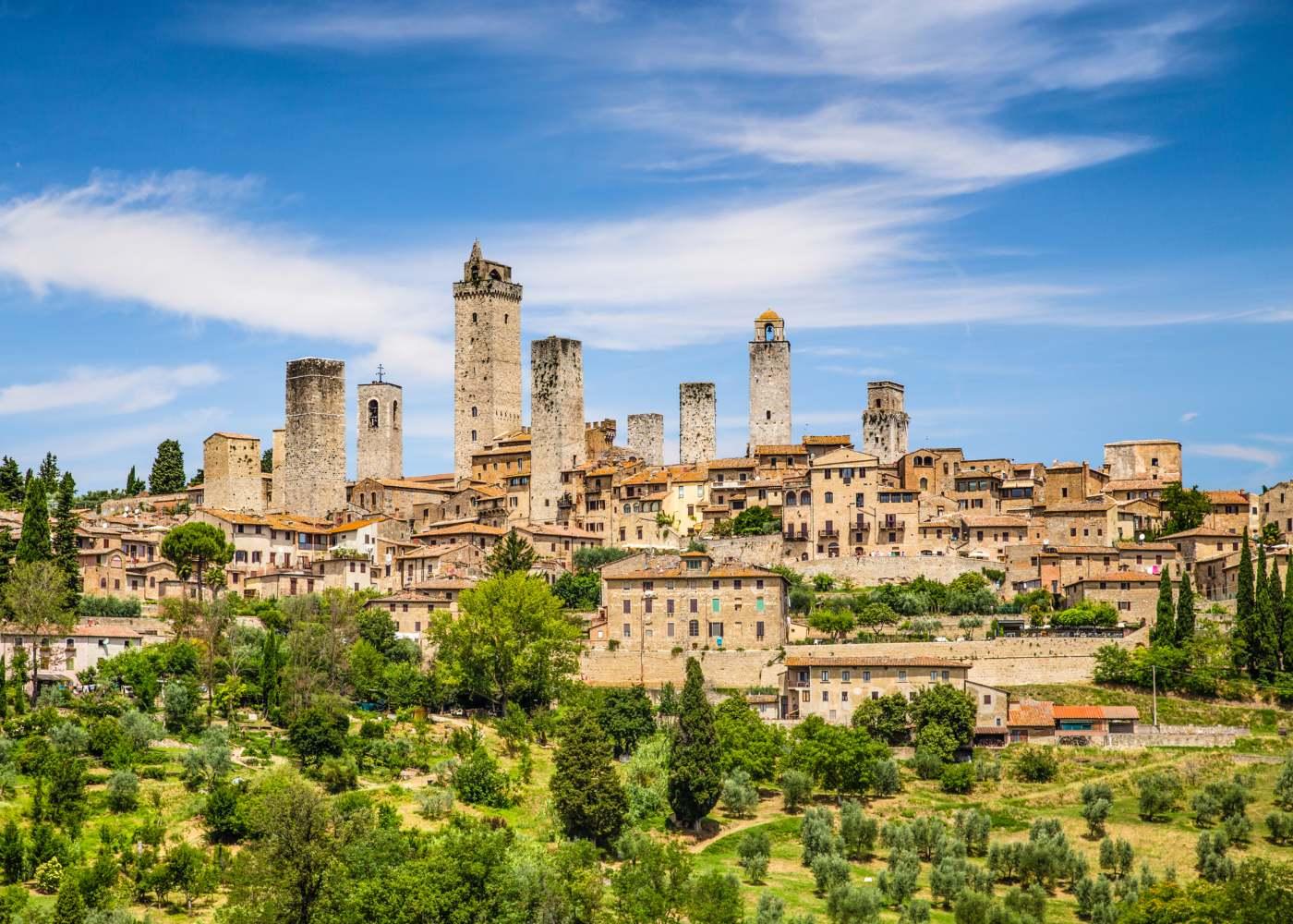 Vista da cidade de San Gimignano