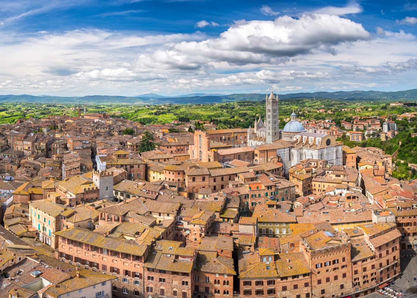 Vista aérea de Siena