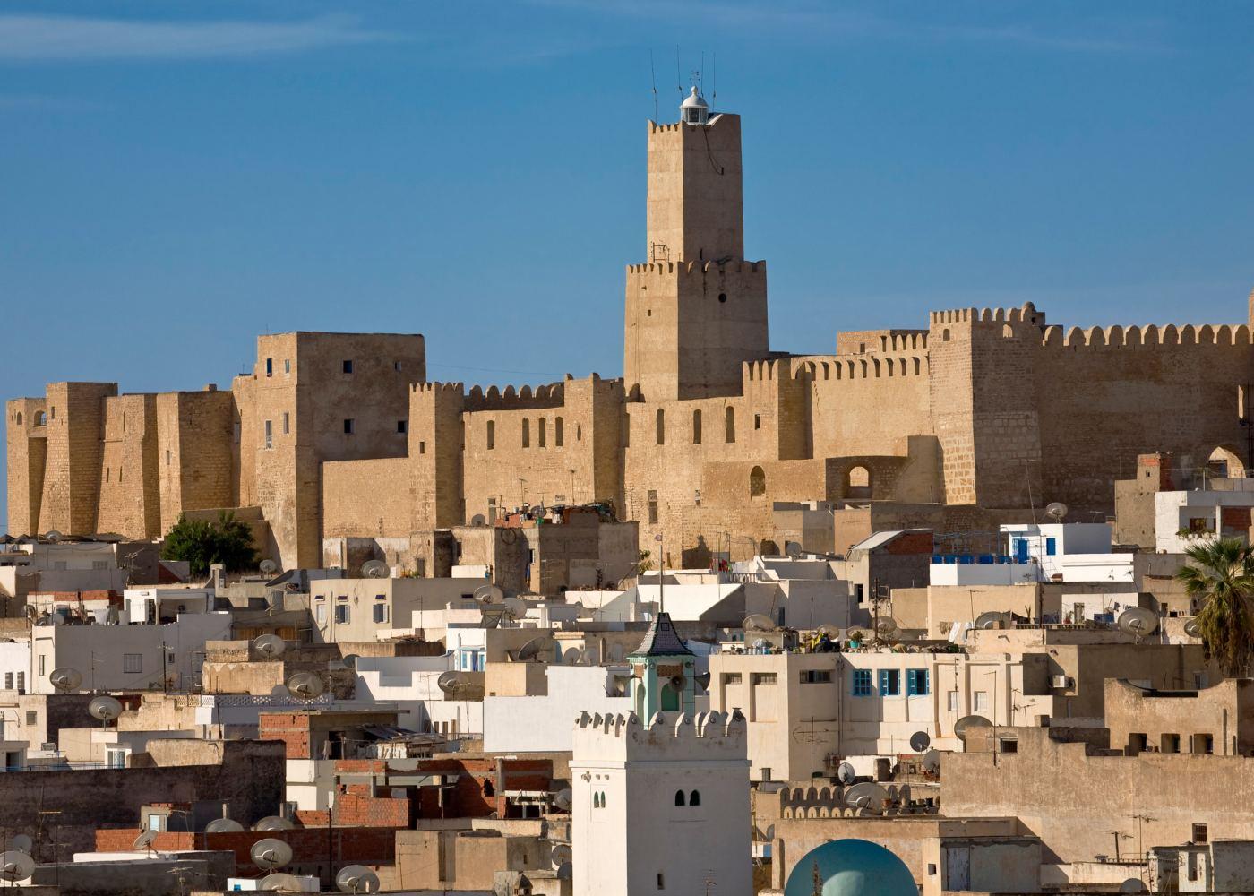 Vista do casbah de Sousse