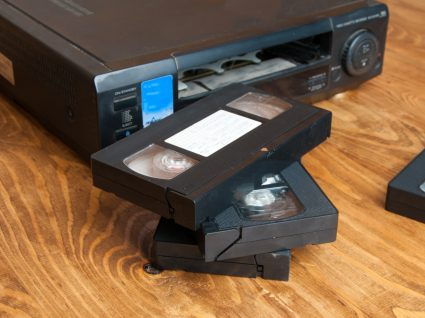Cassetes de VHS para converter em digital
