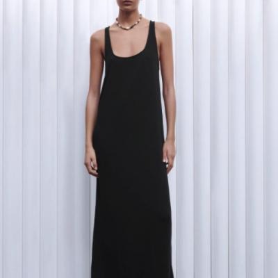 vestido preto alcas