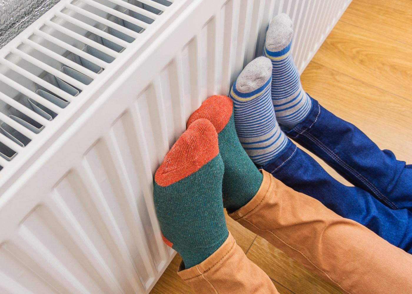 aquecimento de pés