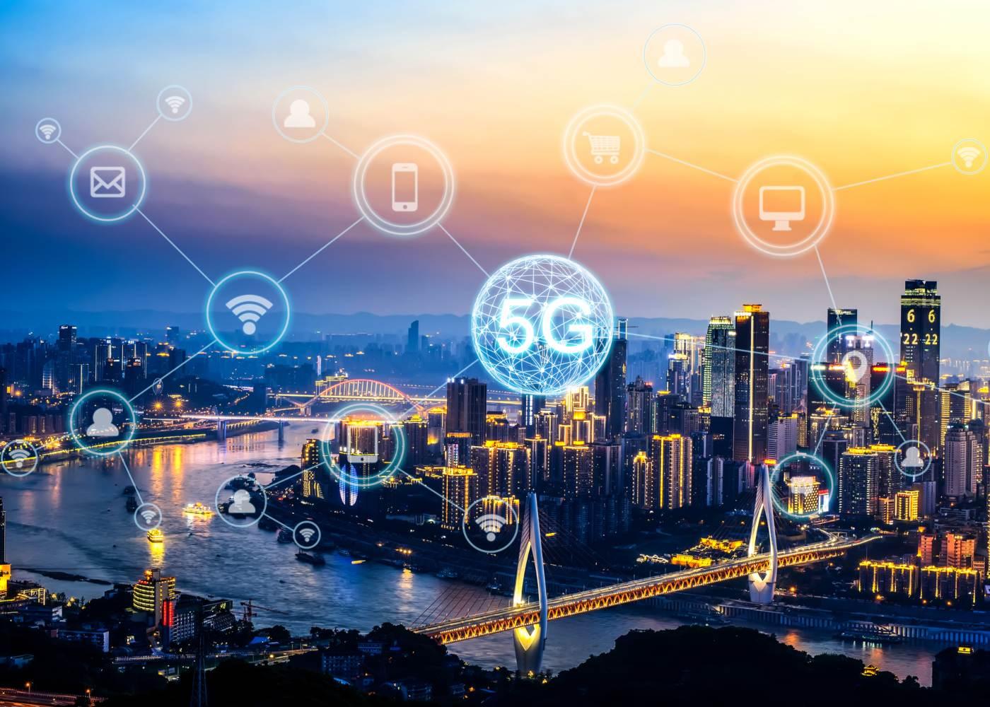Cidade ligada pela rede 5G