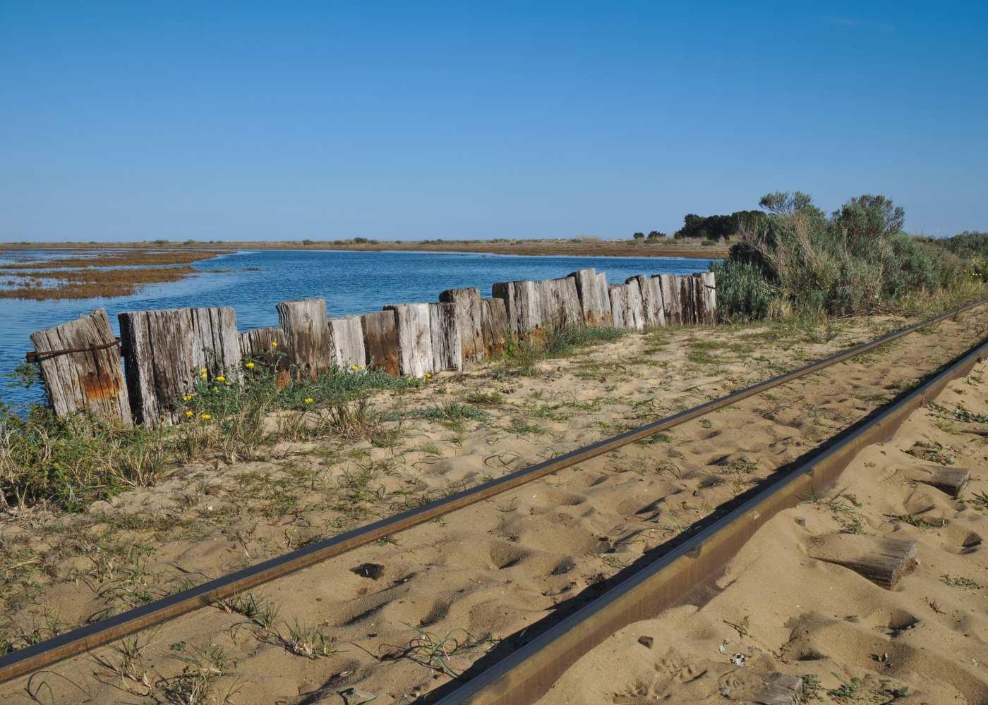 Comboio nas praias algarvias