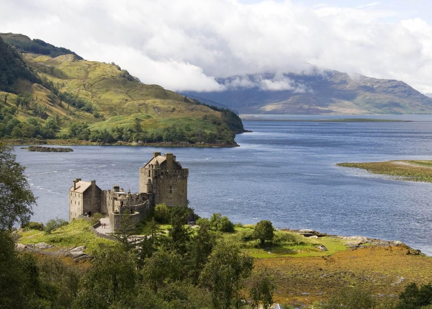 Vista das Terras Altas da Escócia