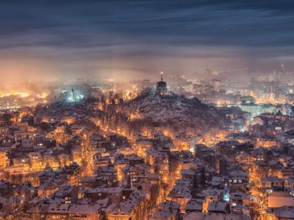 Panorâmica geral de Plovdiv