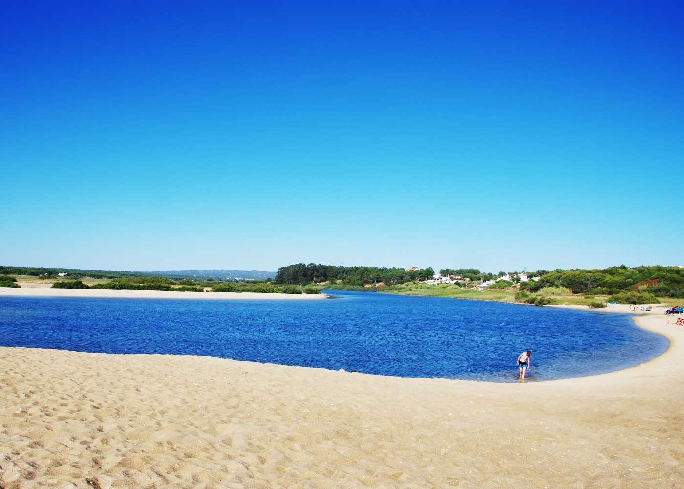 Lagoa de Melides em Portugal
