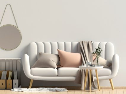 sala de estar com decoração nórdica pyt