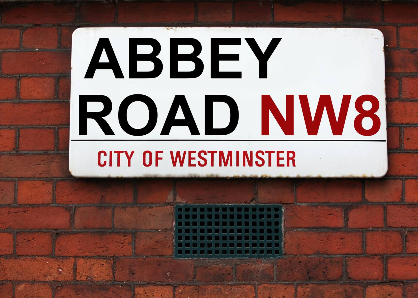 Placa de Abbey Road em Londres
