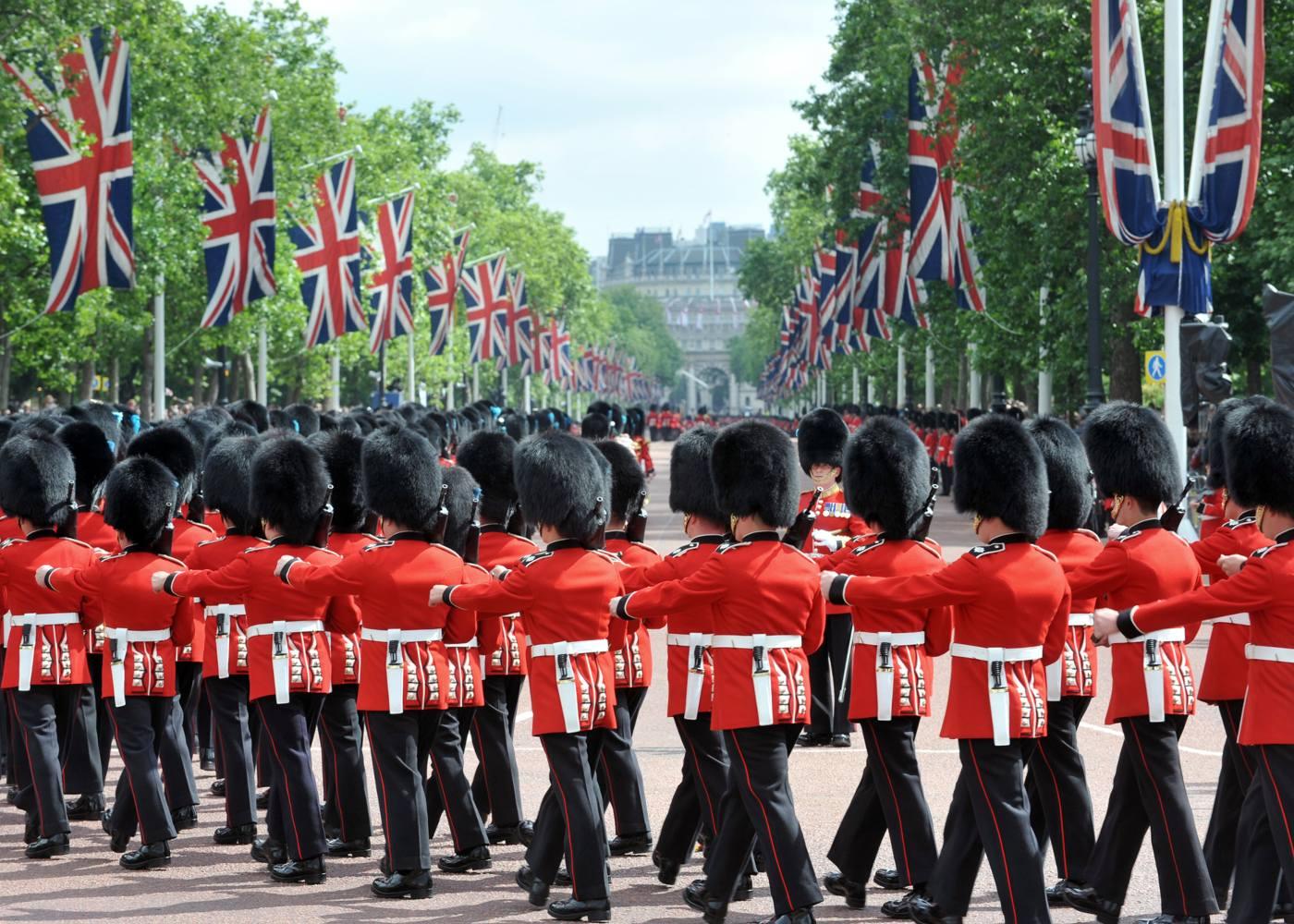 Guardas da rainha em Londres