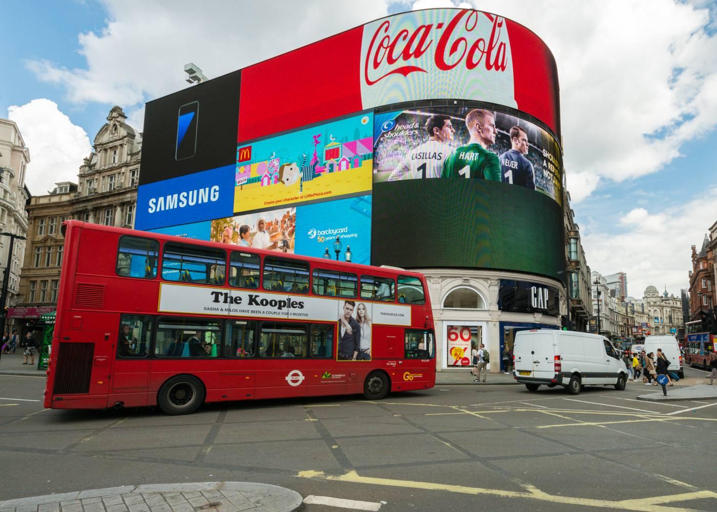 Picadilly Circus no centro de Londres