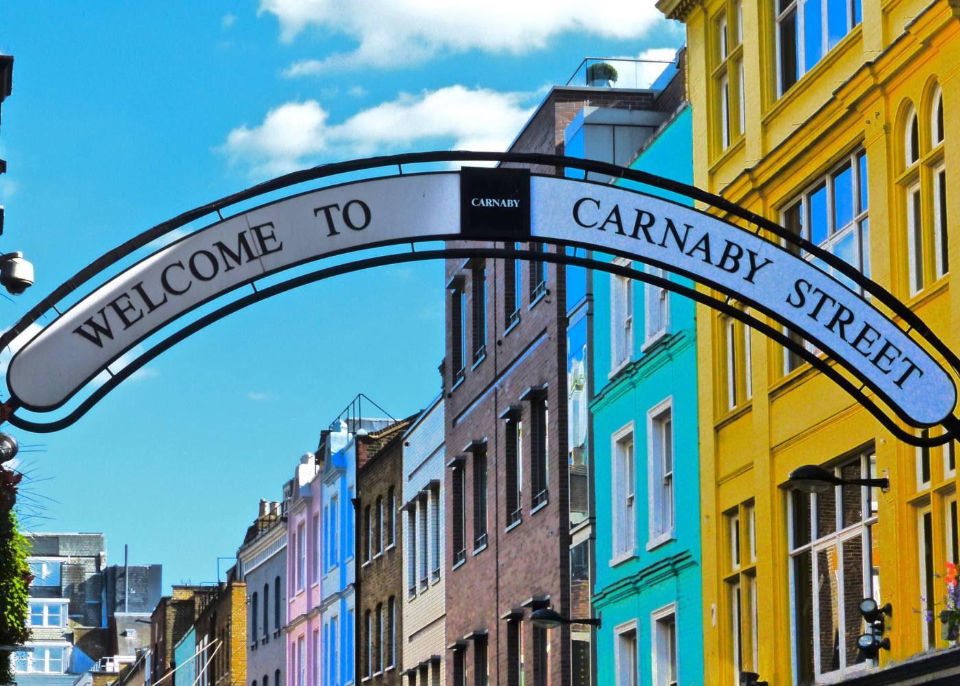 Placa de Carnaby Street