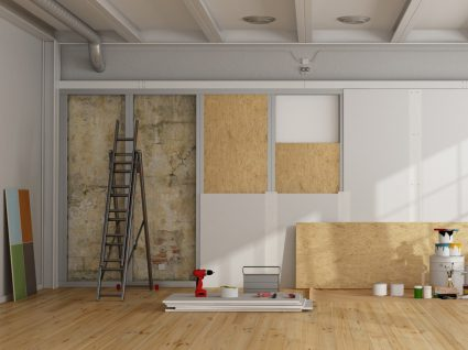 paredes de uma casa em obras