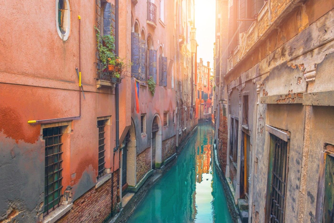 vista sobre os canais de Veneza