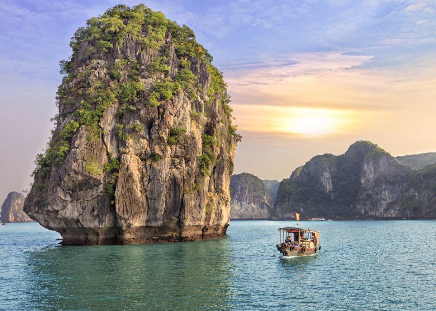 Vista das praias do Vietname