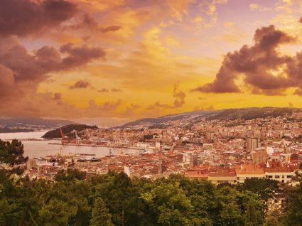 Vista aérea de Vigo