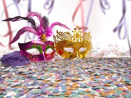 máscaras venezianas de carnaval