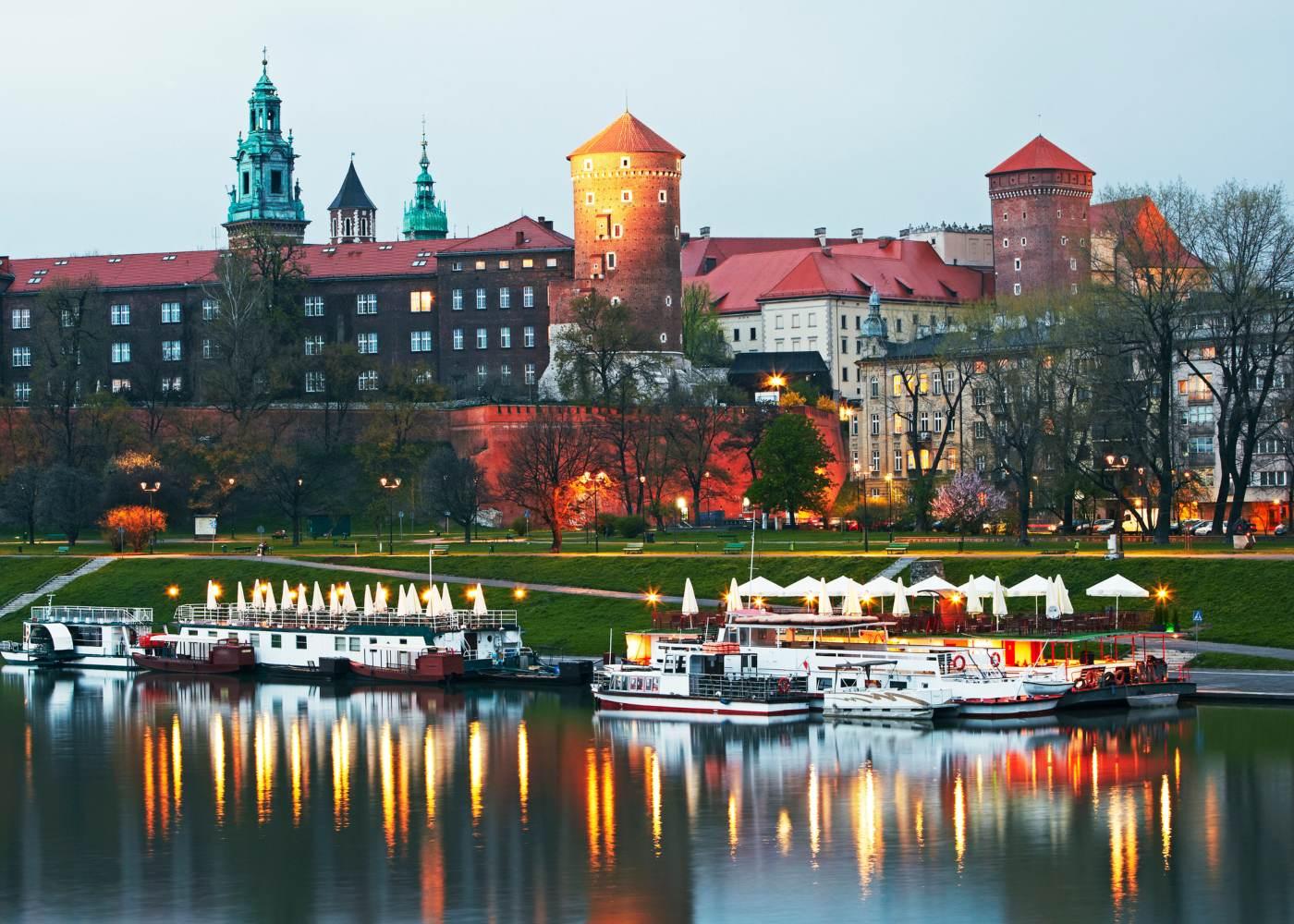 Panorâmica de Cracóvia uma das cidades mais baratas da europa