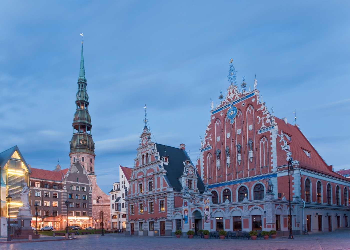 Praça central de Riga